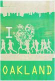 I Heart Running Oakland Posters