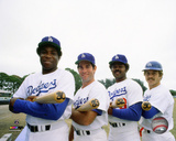 Dusty Baker , Steve Garvey, Reggie Smith, & Ron Cey 30 Home Run Club 1977 Photo