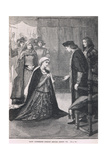 Lady Catherine Gordon before Henry VII 1497 Giclee Print by Mary L. Gow
