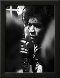 Jimi Hendrix -1968 Framed Photographic Print by Wilson G. Marshall
