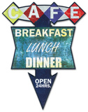 Cafe Breakfast, Lunch, Dinner Wood Sign
