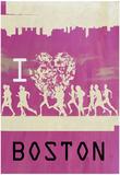 I Heart Running Boston Plakater