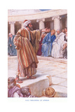 Paul Preaches at Athens Giclee Print by Arthur A. Dixon
