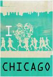 I Heart Running Chicago Plakat
