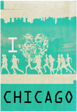I Heart Running Chicago Print