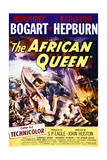 The African Queen - Movie Poster Reproduction Giclee-tryk i høj kvalitet