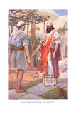 Ahab Asks Naboth for His Vineyard Giclee Print by Arthur A. Dixon