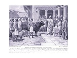 Romans Offering Sacrifices to the Gods Giclee Print by A.C. Weatherstone