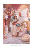 Jesus Teaching the People Giclee Print by Arthur A. Dixon