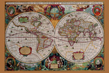 Classical World Map Prints