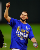 Mike Moustakas celebrates winning Game 4 of the 2014 American League Championship Series Photo