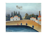 The Anglers, C.1908-09 Giclee Print by Henri Rousseau