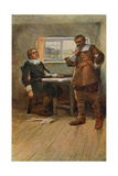 The Courtship of Miles Standish Giclee Print by Arthur A. Dixon