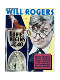 Life Begins at Forty - Movie Poster Reproduction Art