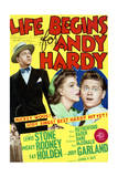 Life Begins for Andy Hardy - Movie Poster Reproduction Posters
