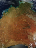 Satellite View of Central Australia Photographic Print