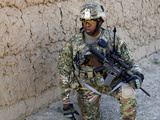 U.S. Army Soldier Provides Security While on Patrol in Afghanistan Photographic Print