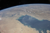 View from Space Showing the Tropical Blue Waters of the Persian Gulf Photographic Print