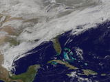 Satellite View of a Major Winter Storm over the Mid-Atlantic United States Photographic Print