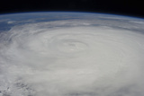 View from Space of Typhoon Soulik East of Northern Taiwan Photographic Print