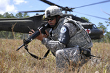 U.S. Army Soldier Provides Security During a Medical Evacuation Photographic Print