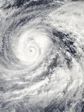 Satellite View of Super Typhoon Vongfong in the Philippine Sea Photographic Print