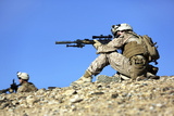 U.S. Marines Provide Security During a Patrol in Afghanistan Photographic Print