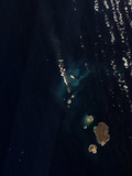 Satellite View of a New Island Forming in the Red Sea Photographic Print