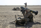 U.S. Marine Provides Security with an Fgm-148 Javelin Photographic Print