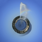 Planet with Water Fountain, Geneva, Switzerland Photographic Print