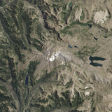 Satellite View of Copahue Volcano Photographic Print