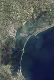 Satellite View of Venice and the Venetian Lagoon Photographic Print