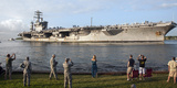 Uss Nimitz Arrives at Joint Base Pearl Harbor Hickam Photographic Print