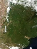 Satellite View of Northern Argentina Photographic Print