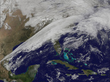 Satellite Image Showing Clouds Stretching from Texas to the U.S. Northeast Photographic Print