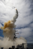 Uss John Paul Jones Launches a Standard Missile Photographic Print