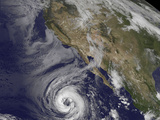Tropical Storm Lowell Strengthening into a Hurricane Photographic Print