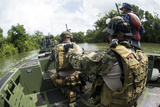 Sailors Conduct Insertion and Extraction Training with the Belize Special Boat Unit Photographic Print