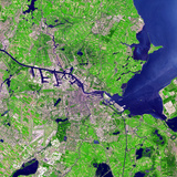 Satellite View of Amsterdam, Netherlands Photographic Print
