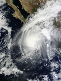 Tropical Storm Sonia over Mexico Photographic Print