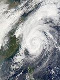 Typhoon Haiyan Northeast of Taiwan Photographic Print