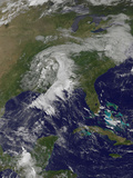 Satellite View of a Cold Front in the United States Photographic Print