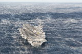 Uss George H.W. Bush Sails in the Atlantic Ocean Photographic Print
