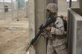 U.S. Marine Provides Security at Camp Leatherneck, Afghanistan Photographic Print