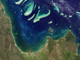 Satellite View of Princess Charlotte Bay in Australia Photographic Print