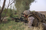 U.S. Marine Provides Security During a Mission in Afghanistan Photographic Print