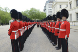 Welsh Guards Stand in Formation During the Trooping the Colour Ceremony Photographic Print