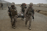 U.S. Marines and Navy Corpsmen Evacuate a Simulated Casualty Photographic Print