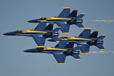 The U.S. Navy Flight Demonstration Squadron, the Blue Angels Fotografie-Druck