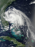 Satellite View of Hurricane Arthur Photographic Print